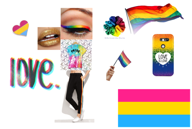 Pansexual/LGBTQ+ Pride outfit