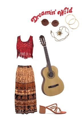 Red modern hippie