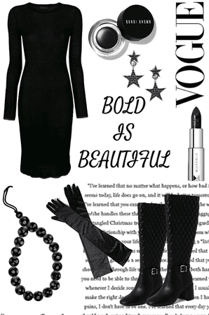 Black aesthetic designer outfit