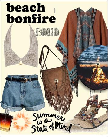 Beach bonfire 🔥