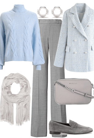 soft blue and gray winter layers