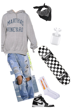 Grunge skater outfit. Alternative outfit