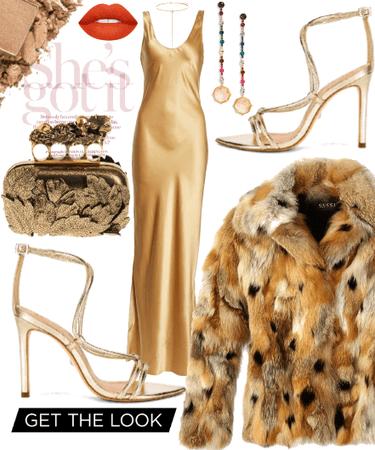 Liquid Gold Dress;