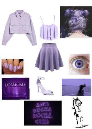 pastel purple/lilac