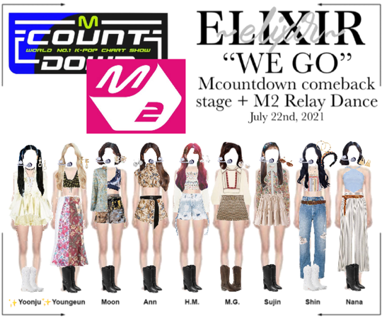 "ELIXIR (엘릭서) | ""WE GO"" Mcountdown comeback stage"