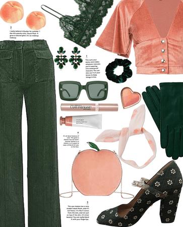 Peach Pink + Pine Green: Peaches & Green pt. II