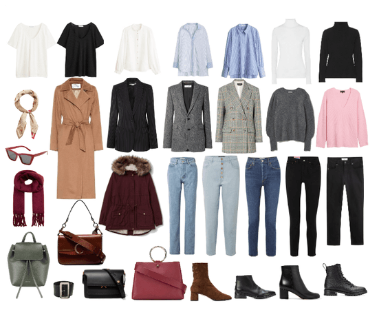 Capsule cold autumn wardrobe