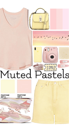 Yellow and Pink pastels