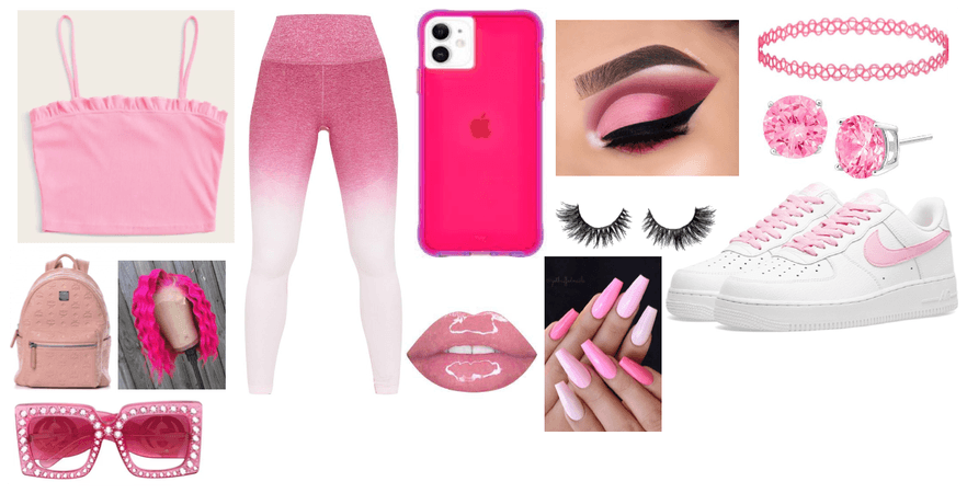 pink out fit