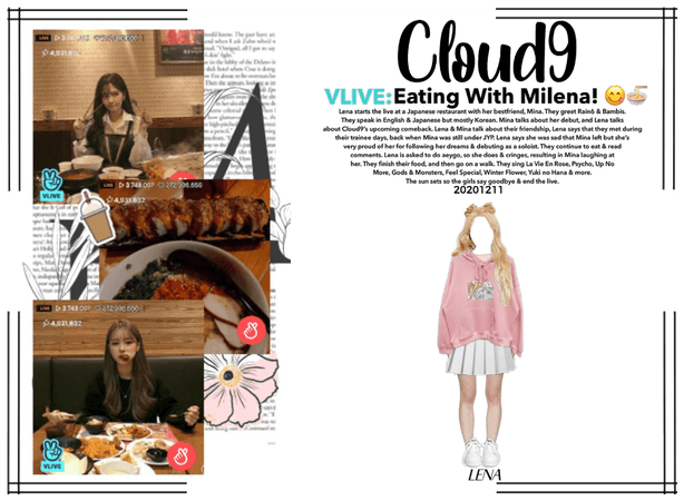 Cloud9 (구름아홉) | VLIVE: Eating with Milena! |201211