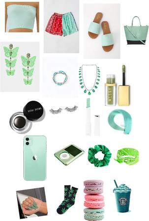 mint green on mint green