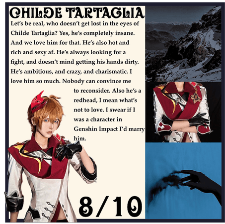 RATING MY FICTIONAL CHARACTER CRUSHES: Childe Tartaglia