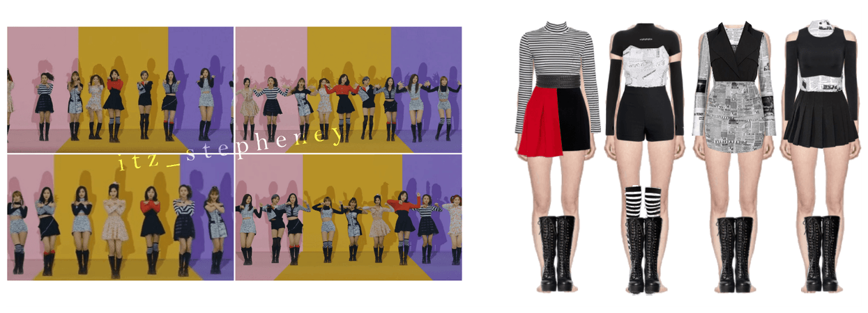 TWICE Knock Knock Inspired Outfits