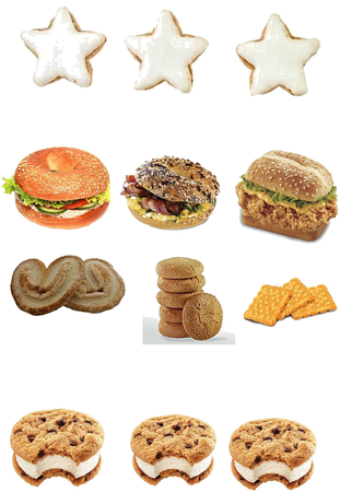 Biscuits and sandwiches