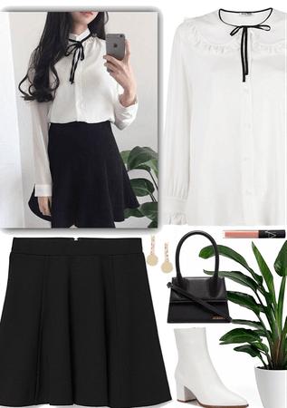 Simple & formal Korean outfit