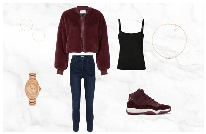 Maroon Winter Outfit