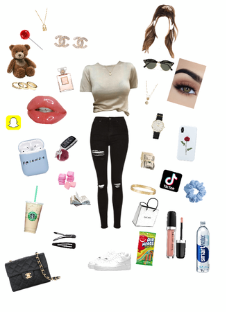 Basic little outfit to go run your errands are go hang out with your friend go catch a movie however you like it