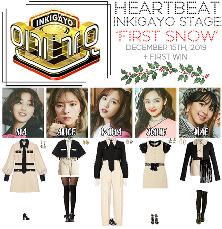 [HEARTBEAT] 121519 INKIGAYO STAGE | 'FIRST SNOW' + 1ST WIN