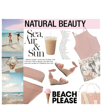 pink beach day