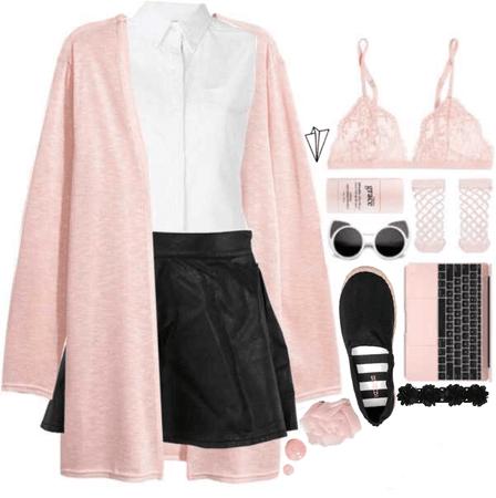 Black + Pink + White