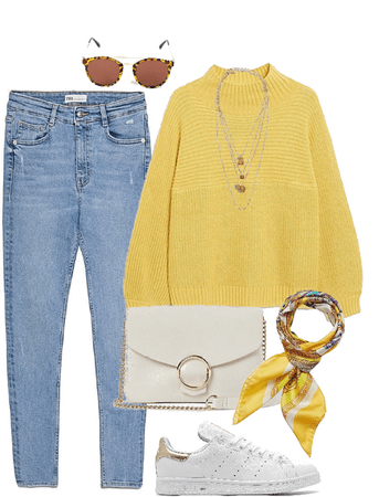 Yellow outfit for fall