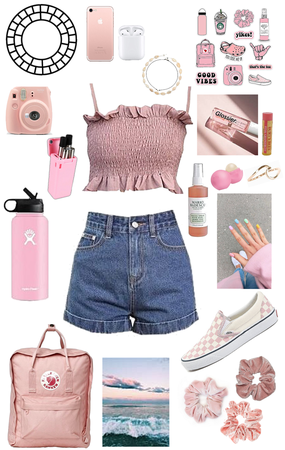 Pink VSCO Girl Outfit