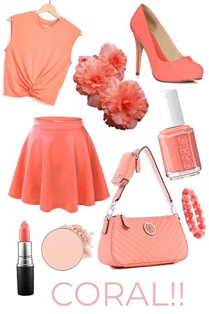 coral colored