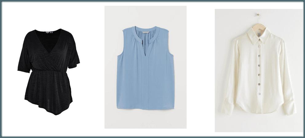 Basic wardrobe - blouses & shirts