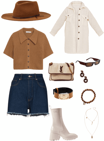 brown and cream fit