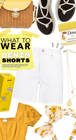 what to wear now denim shorts