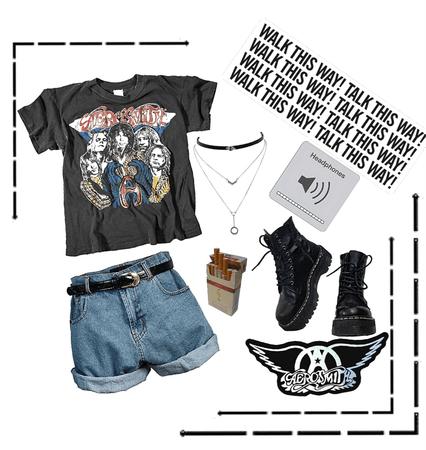 Rockin' out to Aerosmith! Baby!