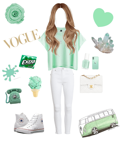 mint green outfit