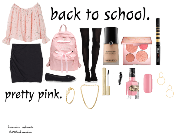 pretty pink back to school.