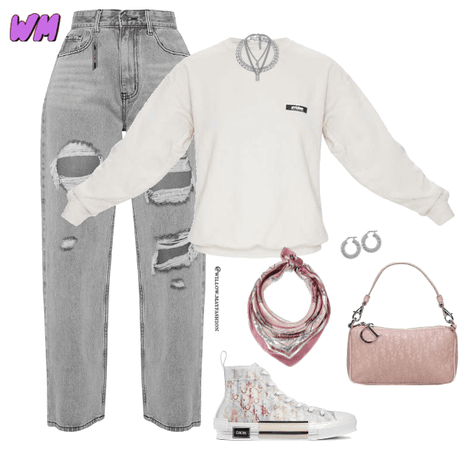 grey pink monochrome