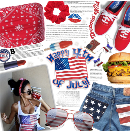 4th of July style| red white and blue