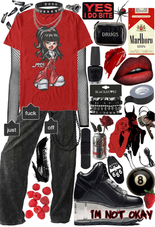 black and red mall goth