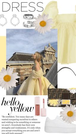 pretty yellow dress