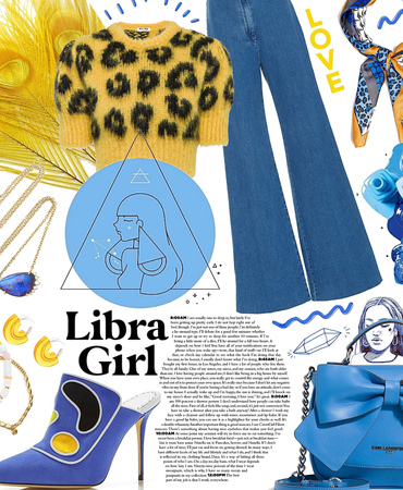 libra girl en bleu
