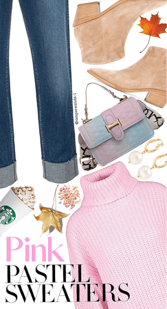 Pink Pastel sweaters for fall