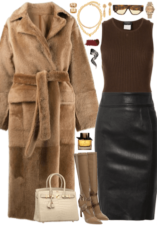 Luxurious and elegant winter look