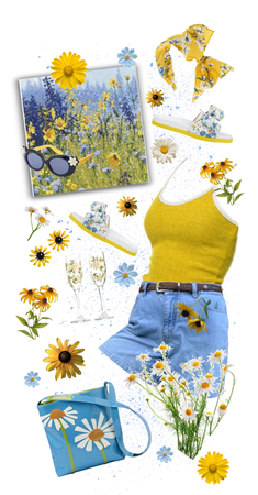 Spring Blue and Sunshine Yellow