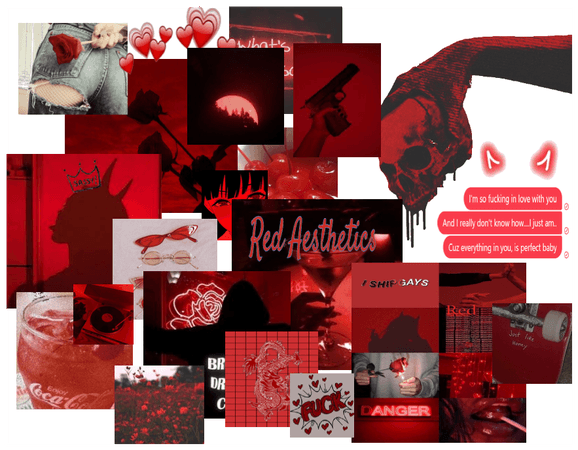 Demon Red Aesthetic.