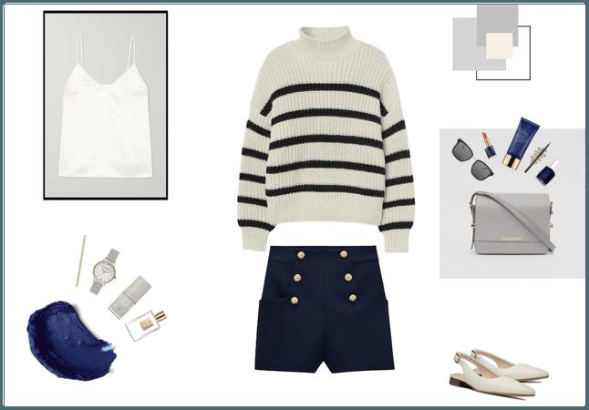 Navy, Grey & White