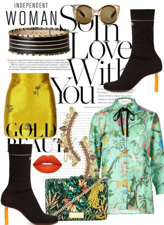 The Goldish Skirt;