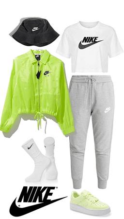 one brand: nike (neon)