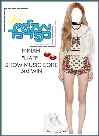 """Minah - """"LIAR"""" Show Music Core & 3rd Win"""