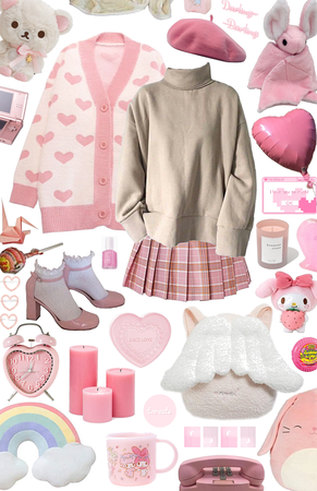 soft girl in pink