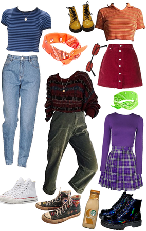 scooby doo inspired outfits :)
