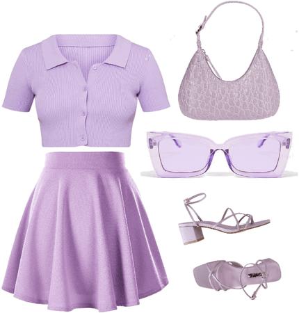 lilac tennis girl