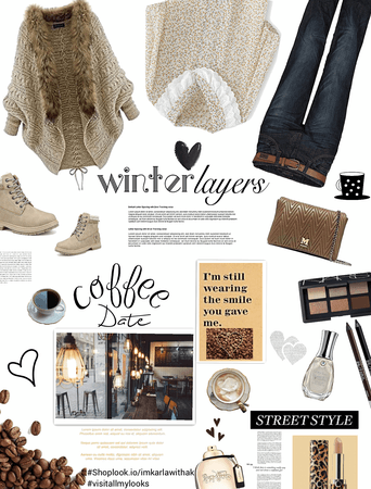 Winter layers/ coffee date